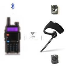 Walkie talkie Bluetooth PTT kulaklık Handfree kablosuz kulaklık kulaklık mikrofon BaoFeng UV 82 UV 5R BF 888S TYT İki yönlü radyo