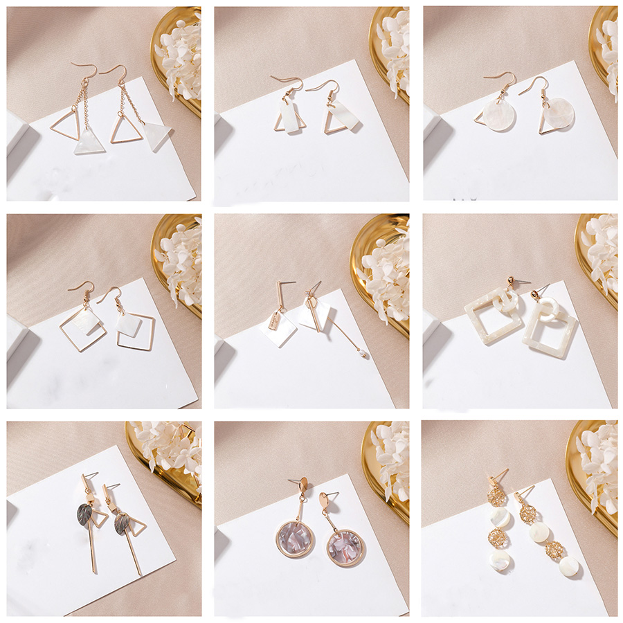 Diligent Japan And Korea Hot Fashion Simple Black Water-drop Crystal Round Pearl Pendant Asymmetric 925 Silver Dangle Earring For Women Earrings Drop Earrings