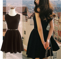 Fashion Elegant Audrey Hepburn Dress LBD 50S 60S Vintage Dress Rockabilly Hepburn S Little Black Dress