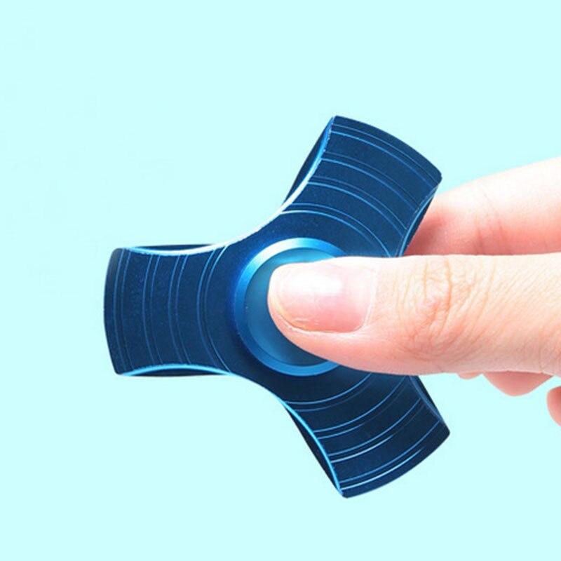 Random 4 Colors Tri Metal Fidget Spinner Finger Tip Hand Spinner Focus Fidget Toys For Kids Children