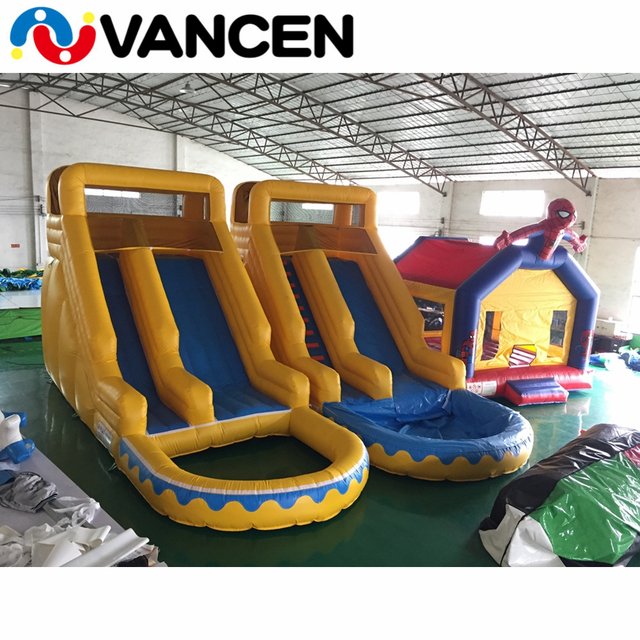 Inflatable castle slide with pool for water park cool bouncing jumping castle PVC inflatable bouncer slide