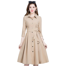 2019 primavera otoño mujer Casual largo gabardina moda Oversize Vintage Cinturón fino cortavientos Mujer