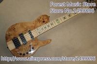 Venda quente Do Pescoço Através de 5 Cordas Fodera Baixo Elétrico Guitarra Fodera Incrustada Fingerboard Bordo Para Venda