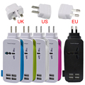 EU UK US Plug 4 Ports Multiple Wall USB Charger 5V 4.2A Smart Adapter Mobile Phone Charging Data Device For iPhone iPad 2017 NEW
