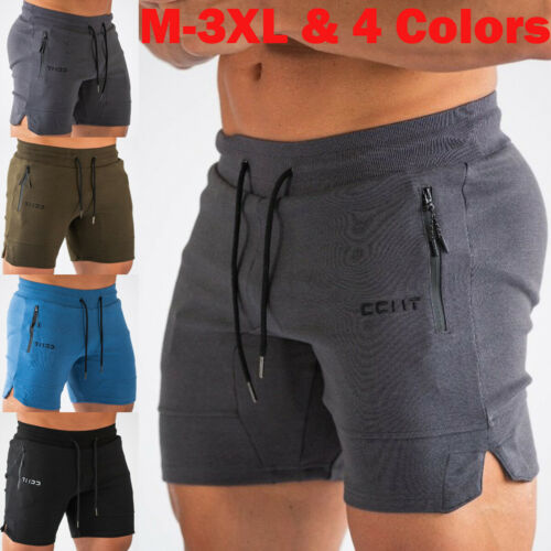 Mens M-3XL Gym Casual Sports Jogging Stretch Shorts Pant Sweatpant Trousers