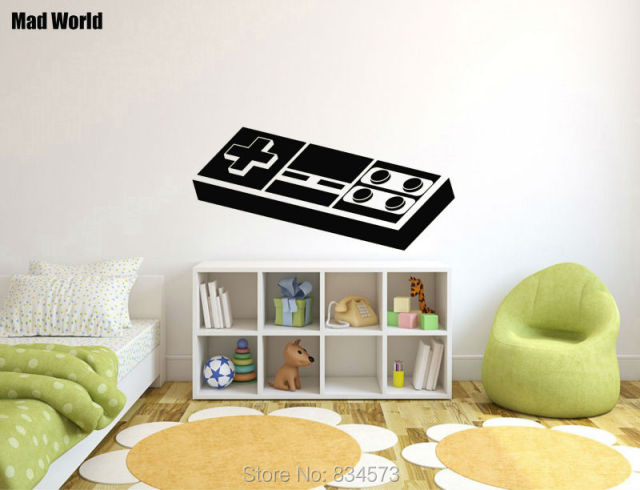 Mad World-RETRO GAME Gaming Nintendo Geek Wall Art Stickers Wall Decal Home DIY Decoration : nintendo wall decal - www.pureclipart.com