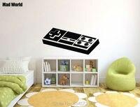 Pazzo Mondo-RETRO GAME Gioco Nintendo Geek Wall Art Stickers Adesivo Home FAI DA TE Decorazione Smontabile Room Decor Parete adesivi