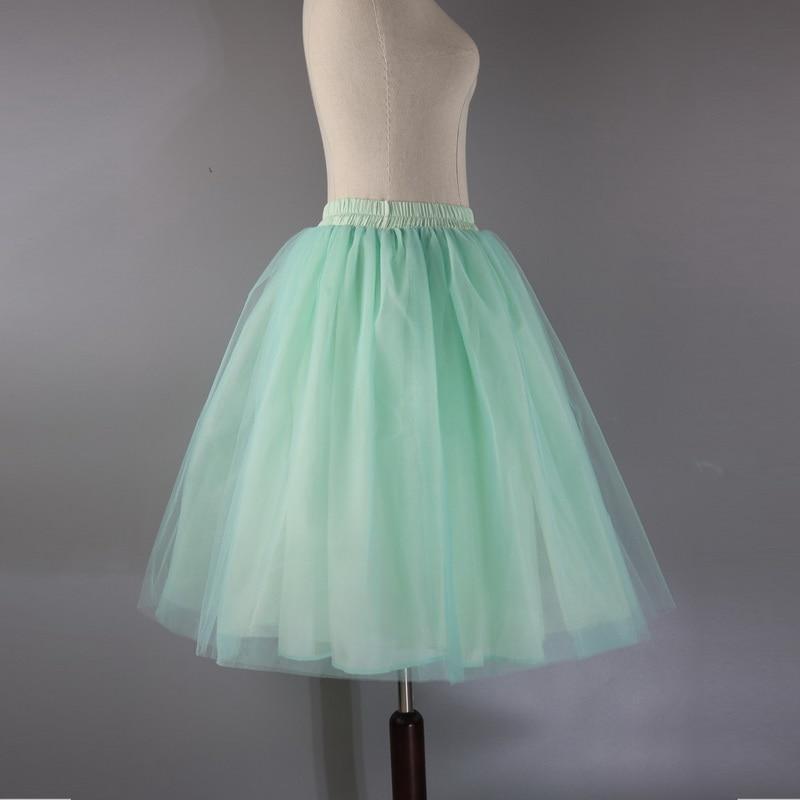 Тюлевая юбка принцессы, пышная Женская Лолита, белая сетчатая юбка, балетная юбка для девочки, 5XL размера плюс, черная одежда для рождественской вечеринки, танцевальная одежда - Цвет: Зеленый