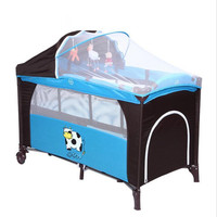2017 Mummy Travel Accessory Cow Pattern Baby Crib Child Bed Continental Multifunction Portable Folding Baby Playpen