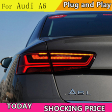 doxa car styling For Audi A6 taillights 2012 2013 2014 2015 for A6 rear lights dedicated car light led taillight assembly kross level a6 2013