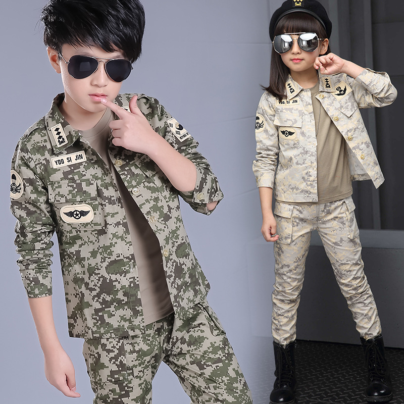 New Children Wear Suits Girls Boys Camouflage Clothes Sets Child Camouflage Clothing Set 3Pcs Kid Boys Girls Sports Suits YL560 camouflage clothing sets for boys cotton chidlren s sports suits sleeved boys clothes summer