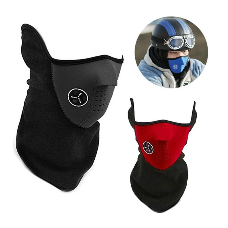 Warm Fleece Balaclavas Ski Snowboard Cycling Half Face Mask Cover Hood Protection Skiing Bibs Winter Neck Guard Scarf Warm Mask
