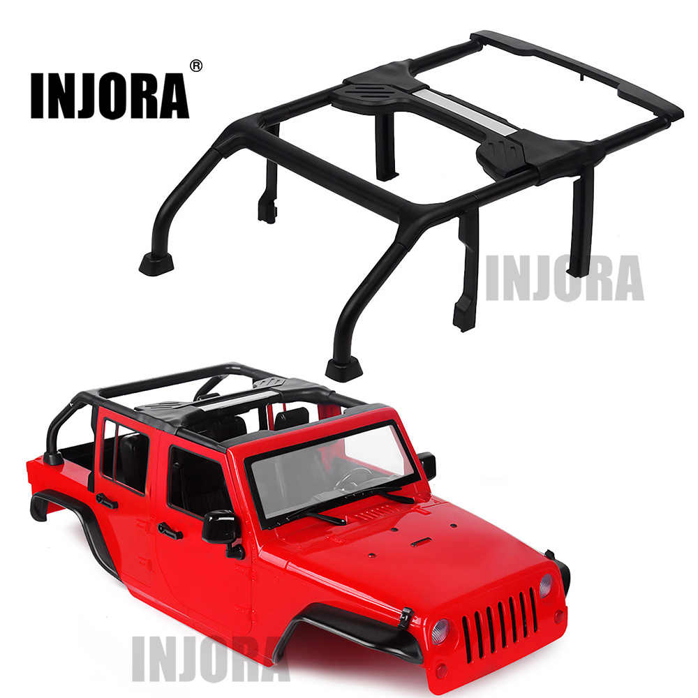 INJORA 313mm ฐานล้อรถเปิด Conversion สำหรับ 1/10 RC Crawler Axial SCX10 90046 Jeep Wrangler Body Shell