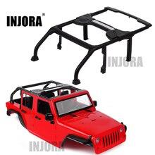 INJORA 313mm Wheelbase Open Car Conversion Parts for 1/10 RC Crawler Axial SCX10 90046 Jeep Wrangler Body Shell