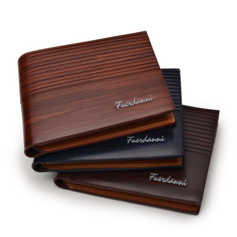 Top 2017 Vintage de cuero de los hombres de la marca de lujo de billetera delgado hombre bolsos Clip de dinero Clip tarjeta de crédito dólar precio Portomonee Carteria