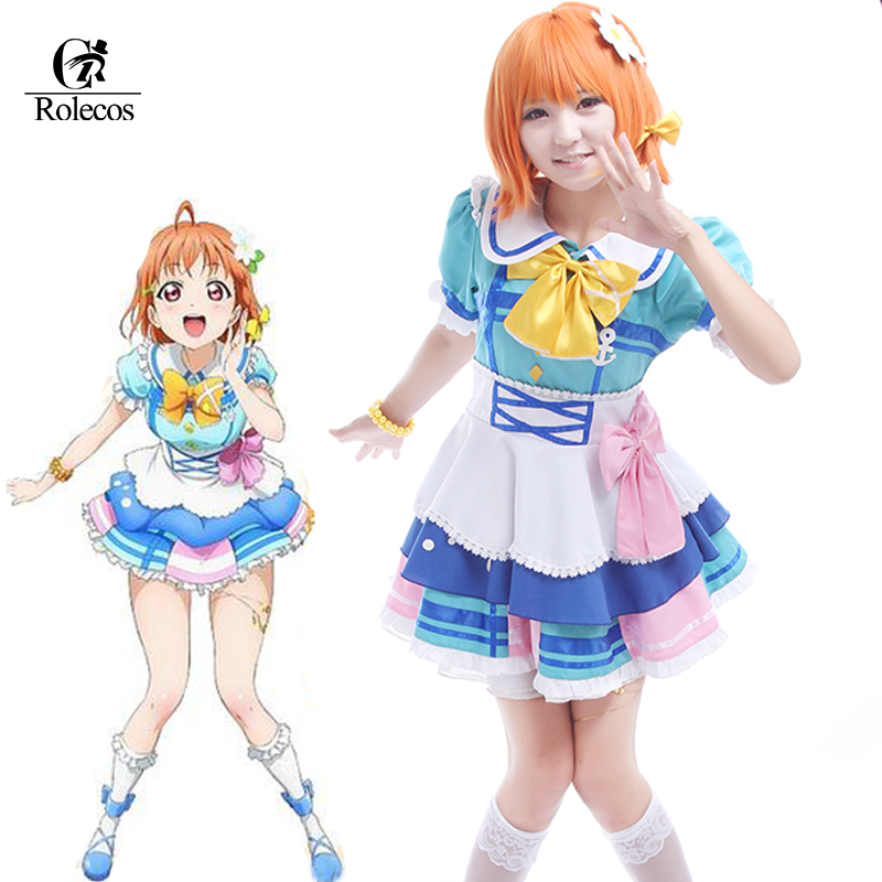 Love Live!Aqours Takami Chika COSplay Costume Uniform Stage Outfit Suit Dress