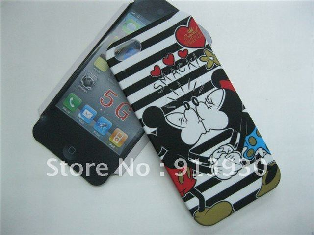 Minnie and Mickey design Hard back cover PC back case For IPhone5