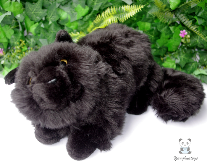 Plush Cats Doll Toys Simulation  Black Persian Cat Stuffed Toy  Accessories  Car Ornaments  Children'S  Birthday Gifts Cute футболка toy machine devil cat black