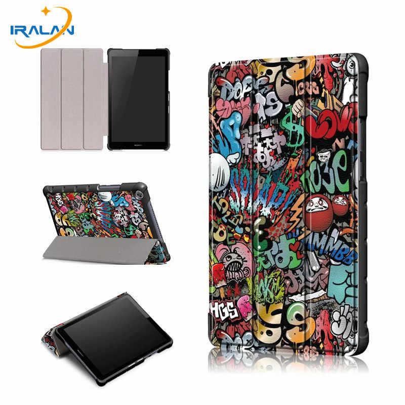עור מפוצל Stand מקרה עבור Huawei Mediapad M5 לייט 8.0 JDN2-W09 JDN2-AL00 Tablet כיסוי עבור Huawei Mediapad m5 לייט 8 מקרה + 3 ב 1