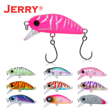 Jerry 1pc 35mm 2.6g wobbler slow sinking trout lure mini crankbait freshwater fishing ultralight Japan hard artificial