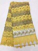 Guipur Encajes y tejidos de Alta Calidad Más Nueva del Diseño Dulce Con Cuentas Nigeriano encaje neto, tela Africana del cordón de Tulle