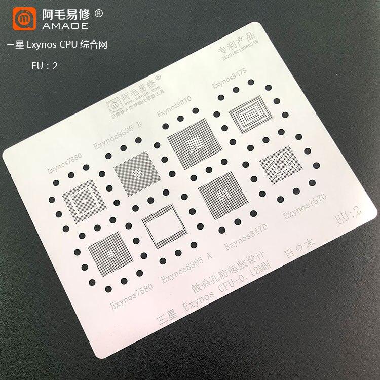 Quanlity elevado IC Chipset Solda BGA reballing template stencil para Samsung Exynos/9810/8895/7880/7580 7570/3470/3475/CPU