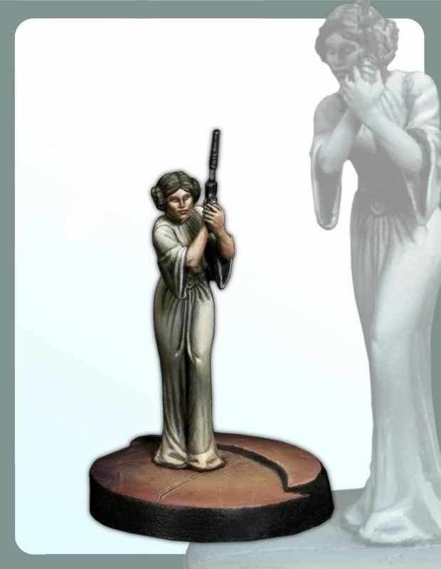 Classic 30MM Star Wars Princess Leia  Miniatures Unpainted   Resin Model Kit Figures Free Shipping