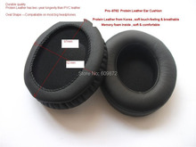 Replacement Protein Leather Ear Pads Cushions , Pro-7506, 1 pair / lot fit on SONY MDR-7506, V6, HD202, Singapore Post