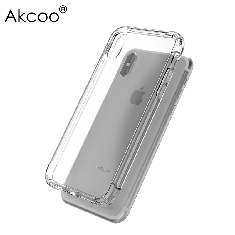 Akcoo Anti-shock TPU Soft Case for iPhone X with Sound Conversion hole design for iPhone ...
