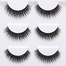 Hot sale 3 Pairs False Eyelashes Set Natural 3D Fake Eye Lashes Extension Eyes Makeup Tools
