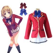 Horikita Suzune Kujita Kikyo costumes cosplay red Sailor suit  Japanese anime Classroom of the Elite clothing free shipping