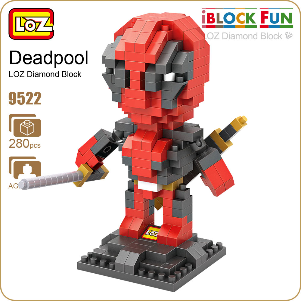 LOZ Blocks iBlock Fun Action Figure Toys Superhero Dolls Plastic Cube Building Blocks Bricks Educational Toy Mirco Brick 9522 loz 280pcs l 9522 deadpool action figure building block educational diy toy