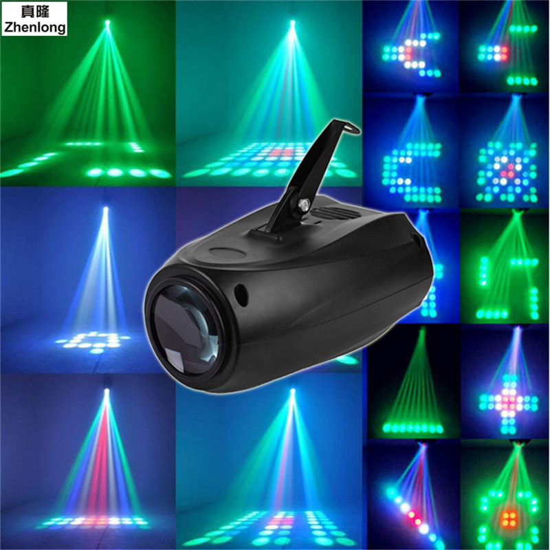 LED Small Airship 64 RGBW Color Changing 10W Moonflower Lighting Magic Pattern Stage Lights Projector for KTV Pub Club Party