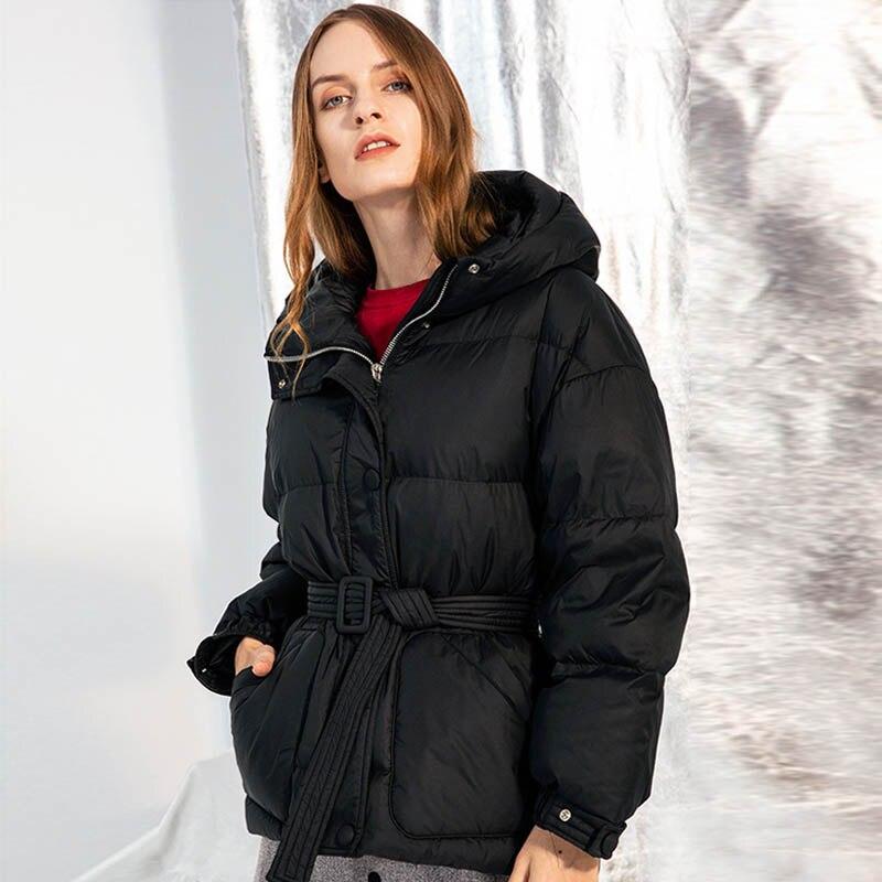 Winter Jacket Women Hooded 90% Duck   Down     Coat   Thick Warm Waterproof   Coat   Female Puffer Jackets Solid Glossy Parkas Outwear