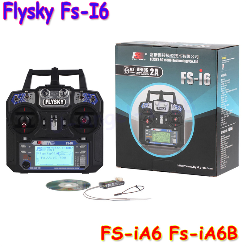 ФОТО FlySky FS-i6 2.4G 6CH AFHDS RC Transmitter With FS-iA6 FS-iA6B Receiver for Airplane Heli UAV Multicopter Drone