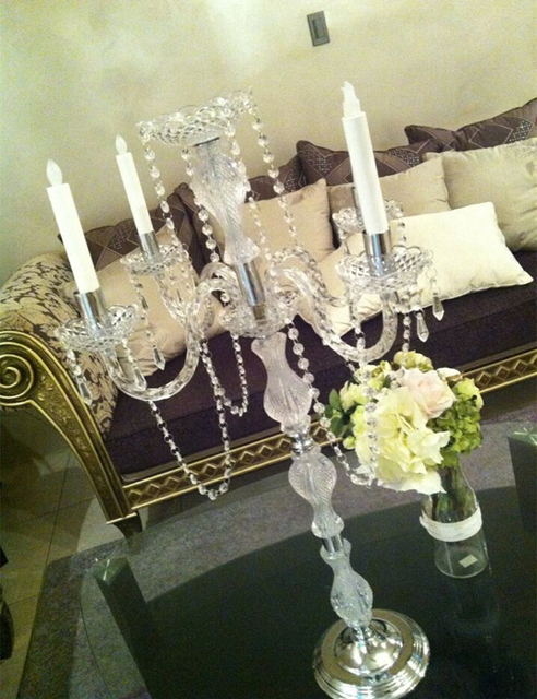 Free Shipping 90cm(H) wedding crystal table centerpiece Wedding chandelier  candle holder candelabra Banquet