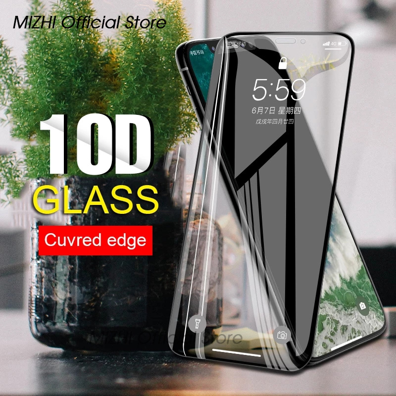 10D Protective Glass Tremp Sklo On The For IPhone 6s S6 7 8 6 S Plus 11 Pro Max Aphone Tempered Film IPhoe Glas Screen Protector
