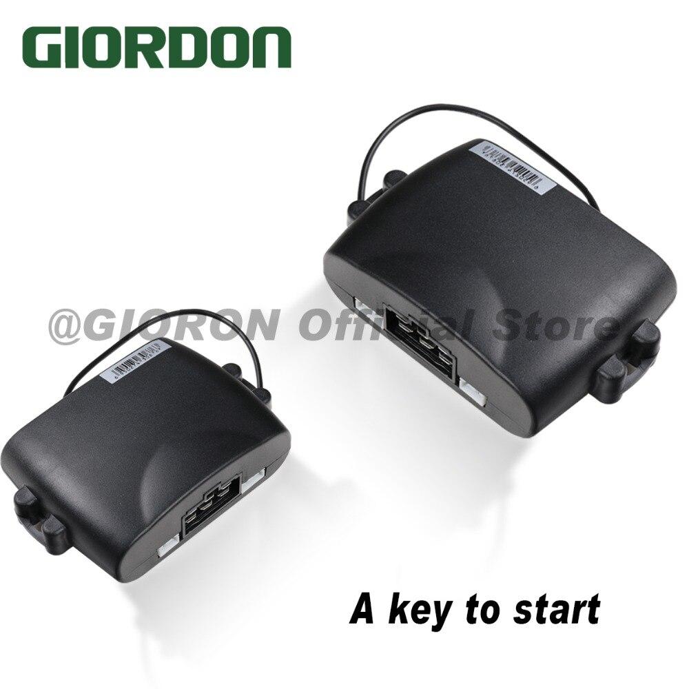 PKE et un bouton de démarrage commande de téléphone portable voiture connexion Bluetooth capteur de choc armement, immobilisateur de moteur