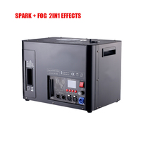 New Arrival 2400W 2in1 DMX Spark + FOG Effects COLD SPARK MACHINE STAGE FOG MACHINE SMOKE SPECIAL EFFECTS STAGE LIGHT
