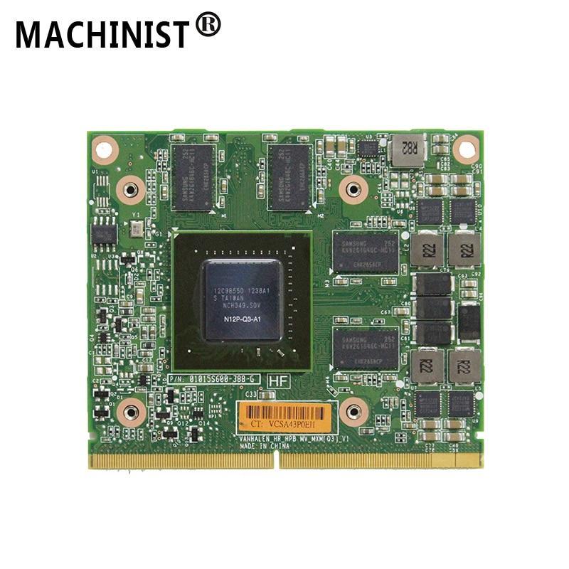NEW NVIDIA Quadro 2000M 2G Video Graphic Card GPU GDDR5 For HP 8740W 8760W 8540W 8560W 8560P Dell PMY8Y M4600 laptop N12P Q3 A1