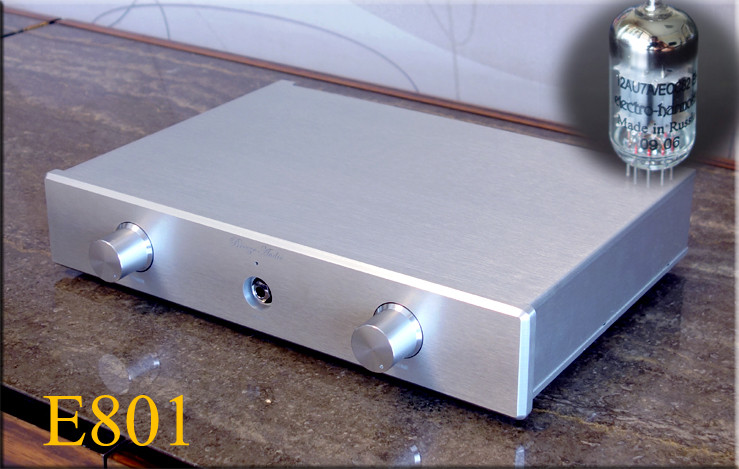 Breeze Audio E802 12AU7 Tube Mosfet Headphone Amplifier HIFI EXQUIS Weiliang Headset E801 Hybrid Amp