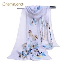 CHAMSGEND 2017 beautiful Fashion Women Chiffon Soft Wrap scarf Ladies Shawl Scarf Scarves May04
