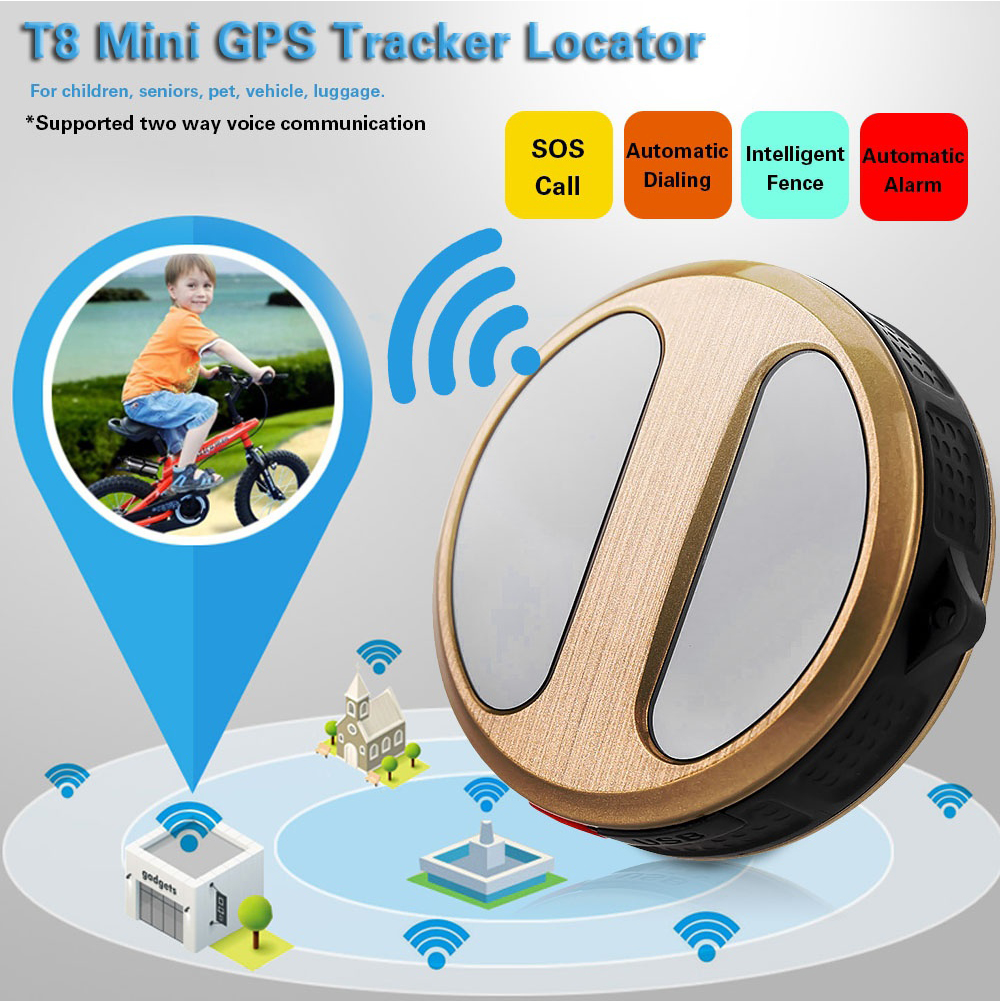 GPS Tracker Locator Anti-lost GSM GPRS SOS Alarm for Car Kids Pets Old People