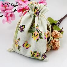 YYW 2017 Jewelry Bags Butterfly Pouches Cotton Fabric Bags Christmas Gift Bags Candy Jewelry Packaging Organza Bags Pouches