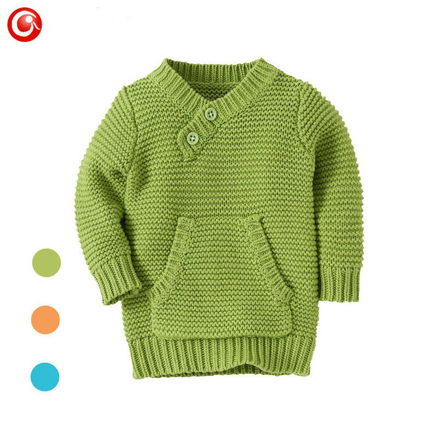 9M-4Y Knitting Pattern Baby Infant Cardigan With Pocket Kids Boys Cotton Sweater Clothes Children Girls Long Sleeve Soft Jumper