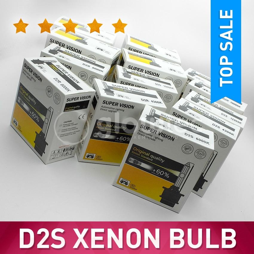 GLOWTEC bombilla de Xenón HID para faro delantero, superbrillo, todos los colores, D1S D2S D3S D4S, 6000K, 4300K, 1 par|d4s xenon|xenon headlightsuper bright - AliExpress