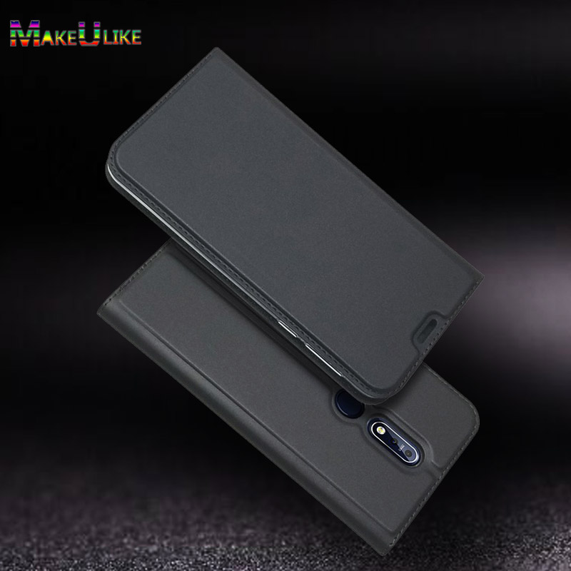 Slim Magnetic <font><b>Case</b></font> For <font><b>Nokia</b></font> <font><b>8.1</b></font> 7.1 3.1 2.1 6.1 5.1 Plus <font><b>Flip</b></font> Cover PU Leather Phone Bag <font><b>Case</b></font> For <font><b>Nokia</b></font> 1 2 3 5 6 7 8 9 Cover image