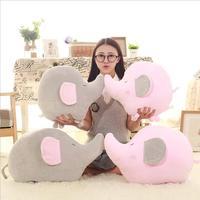 Grigio/Rosa Bambola Elefante Peluche Piumino Cotone Elephant Bambini Farcito Cuscino Animale