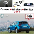3 in1 Special Rear View Camera + Wireless Receiver + Mirror Monitor EASY Parking System For Mazda CX-5 CX 5 CX5