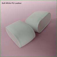 White PU Leather Watch Display Storage Cuff Cushion Pillow